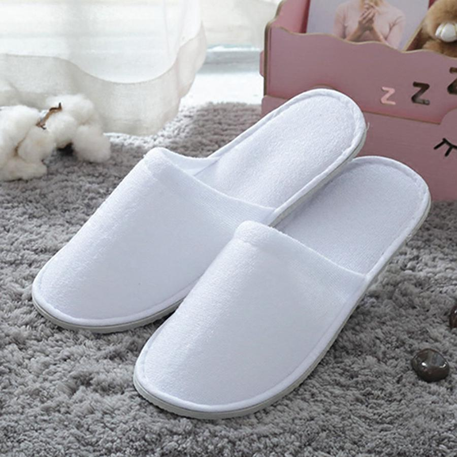Hotel Comfortable Inner Thick Anti-slip Home Guest Shoes Breathable Soft Disposable Slippers OWD2981