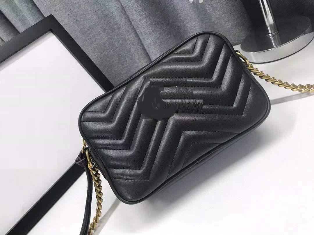Frauen Umhängetaschen Schaffell Leder Nano Handtaschen Crossbody Soho Kette Tasche Messenger Bags Kamerataschen Lippenhalter Geldbörse