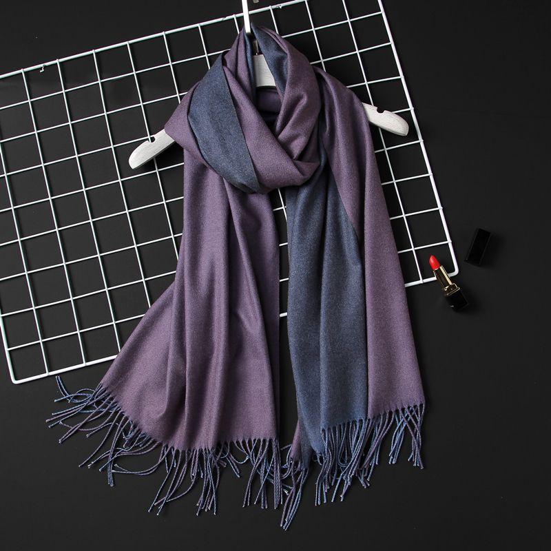 Dame Box Solide Tücher Mode Frauen 2020 Kassierer Foulard Für Schal Pashmina Tücher Wrap Blanket Bandana Frauen Weiche Winter Ikjnt