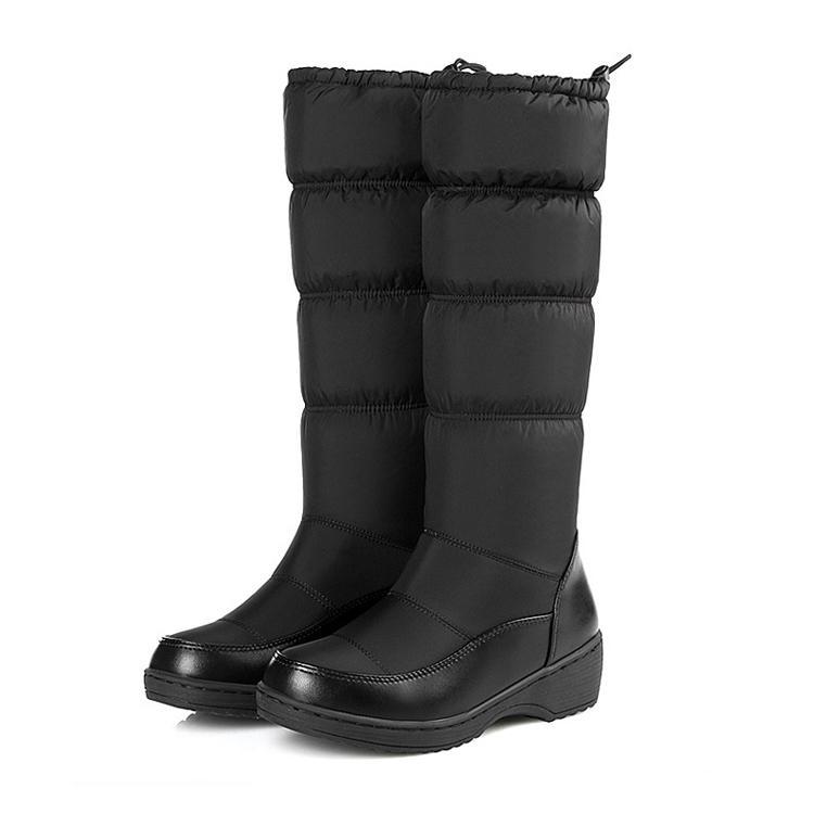 Winterschuhe rutschfeste warme Stiefel weiße Baumwollschuhe plus samt dicke Baumwollstiefel dicke Schwamm Schneeschuhe. Xz-082.