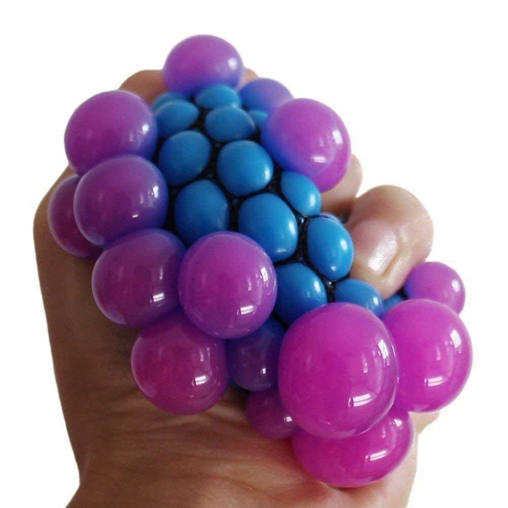 1 개 부드러운 고무 포도 공 재미있는 구호 부드러운 아이들과 성인용 장난감 환기구 Y0110