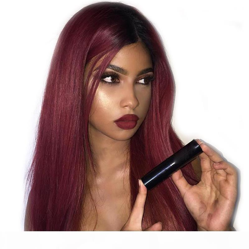 Wholesale new arrival best unprocessed raw virgin remy human hair long 1bt99j silky straight full lace cap wig for women
