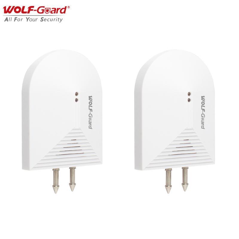 2pcs Capteur de détecteur d'intrusion d'eau d'eau sans fil Wolf-Guard Savez à l'écart de l'inondation pour GSM WiFi Home Alarm Security Systeme