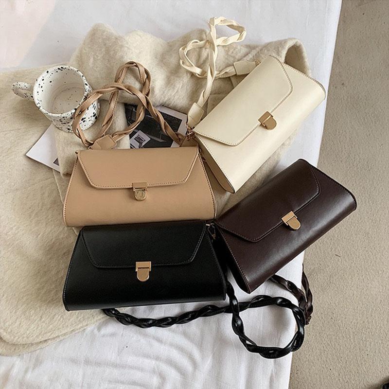 Diseño de bolsas de cuero bolsas de hombro SAC para mujeres 2020 cadena de baguette principal bolsa de mano de lujo femenino Un viaje de PU Femme 77643 xqiwm
