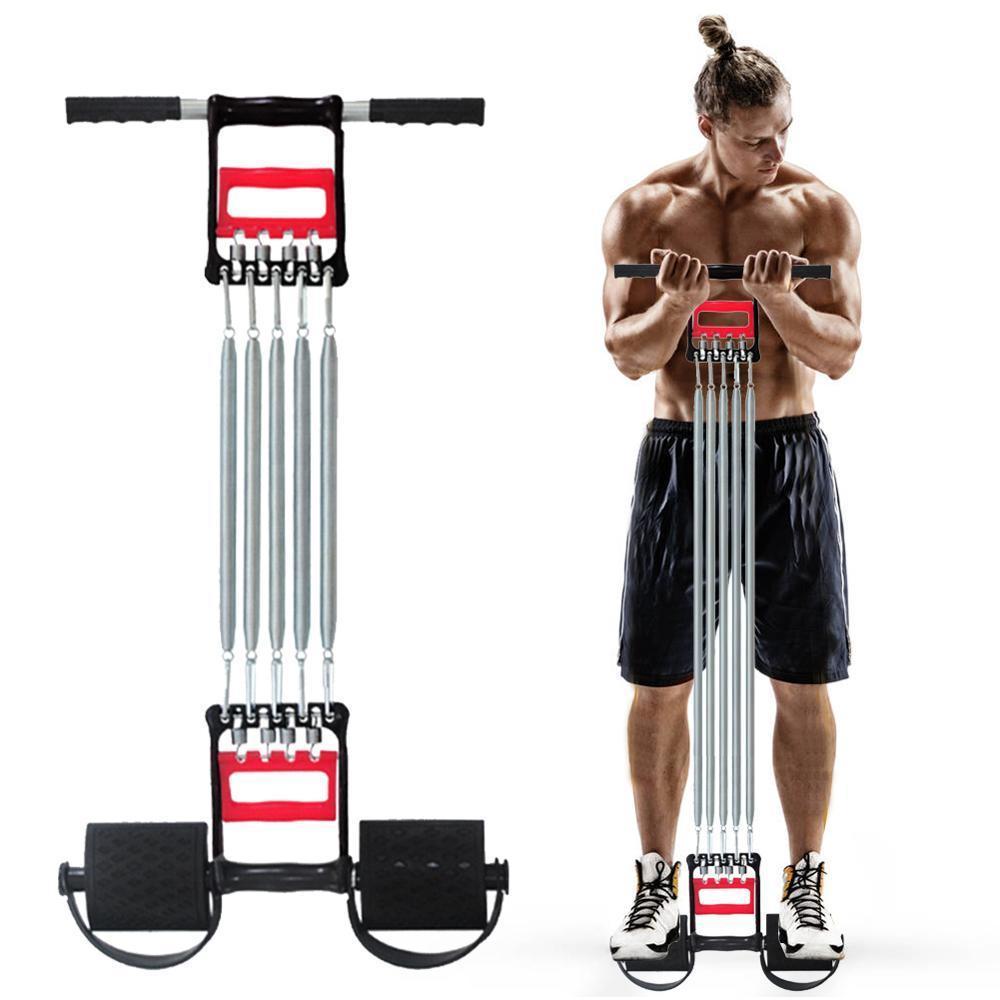 5 Bande de résistance Sport intérieur Spring Coffre Développeur Expander Tension Fitness Fitness Muscles Réglable Gym Accueil Equipement J0115