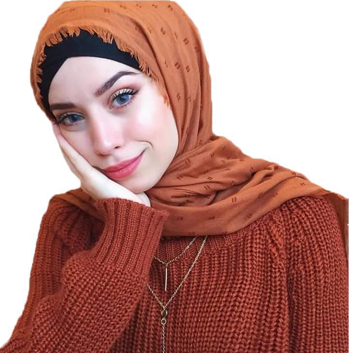 1 PC POM POM Algodón Soft Hijab Bufanda Mujeres Largo Mantón Wrap Wrap Muslim Diadema Maxi Islámica Sjaal 180 * 90 cm 10pc / Lot