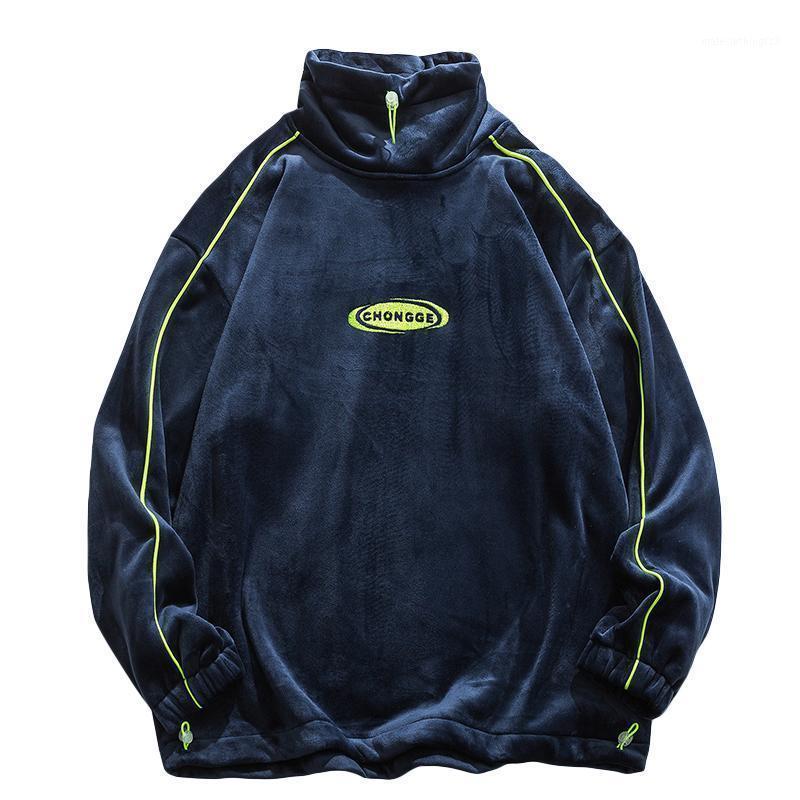 Sudaderas con capucha para hombre Sweatshirts Coreanos Streetwear Spring Ocio Overseiz Ropa de gran tamaño Crewneck Sudadera Invierno Sudadera Hombre Ropa EA60WY
