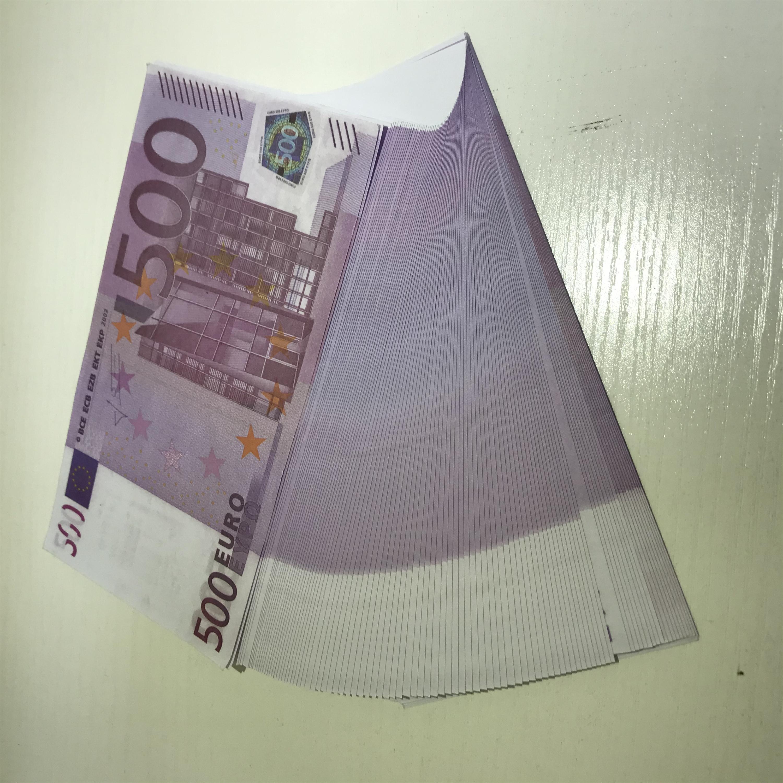 Papier gefälscht Spielzeug Euro Billet 500 Ticket Magic Requisiten BDTMM Geschenk Banknote Pfund Dollar Neue Faux Le500-24 Stütze Kinder Jfhoa