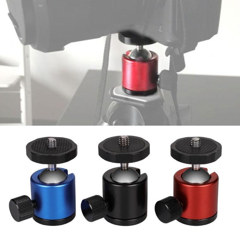 "Mini Ball Head 1/4 ""Montagem para câmera Tripé Ballhead DSR para Nikon Tripod DSLR Câmera Stand Canon Mount T1U8"