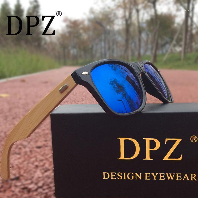 Gafas de sol 2021 DPZ Men Bamboo Aviation UV400 Wood Classic Retro Remache Shades Women1