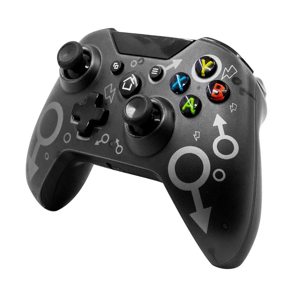 Controlador de jogo sem fio 2.4GHz para Xbox One PS3 PC Jogos Joystick Gamepad com duplo motor vibração 6-eixo lidar com Y0114