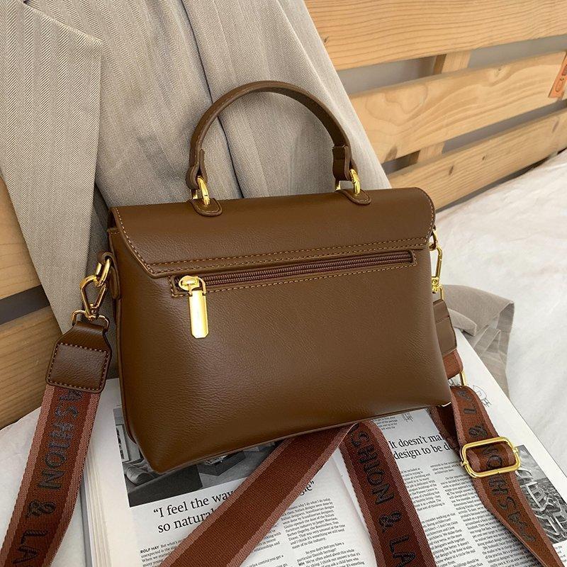 Handtaschen für Mode 2021 Feste Tasche Schultertasche Luxus Crossbody Designer Frauen Frauen Messenger Leder Weibliche PMOHP