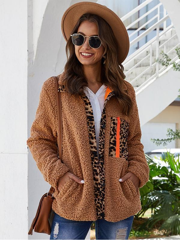 2020 Automne hiver Nouveaux femmes épaisses velours chaud velours manteau de fourrure pour dames lâche laine d'agneau décontracté de laine d'extérieur avec doublure femme1