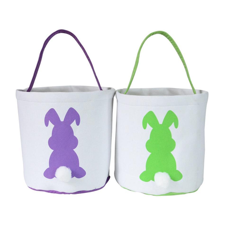Cestino del coniglio per HHA3452 Borse di Pasqua per sacchetti regalo Pasqua per bambini caccia partito uovo orecchio tote favori wrirg