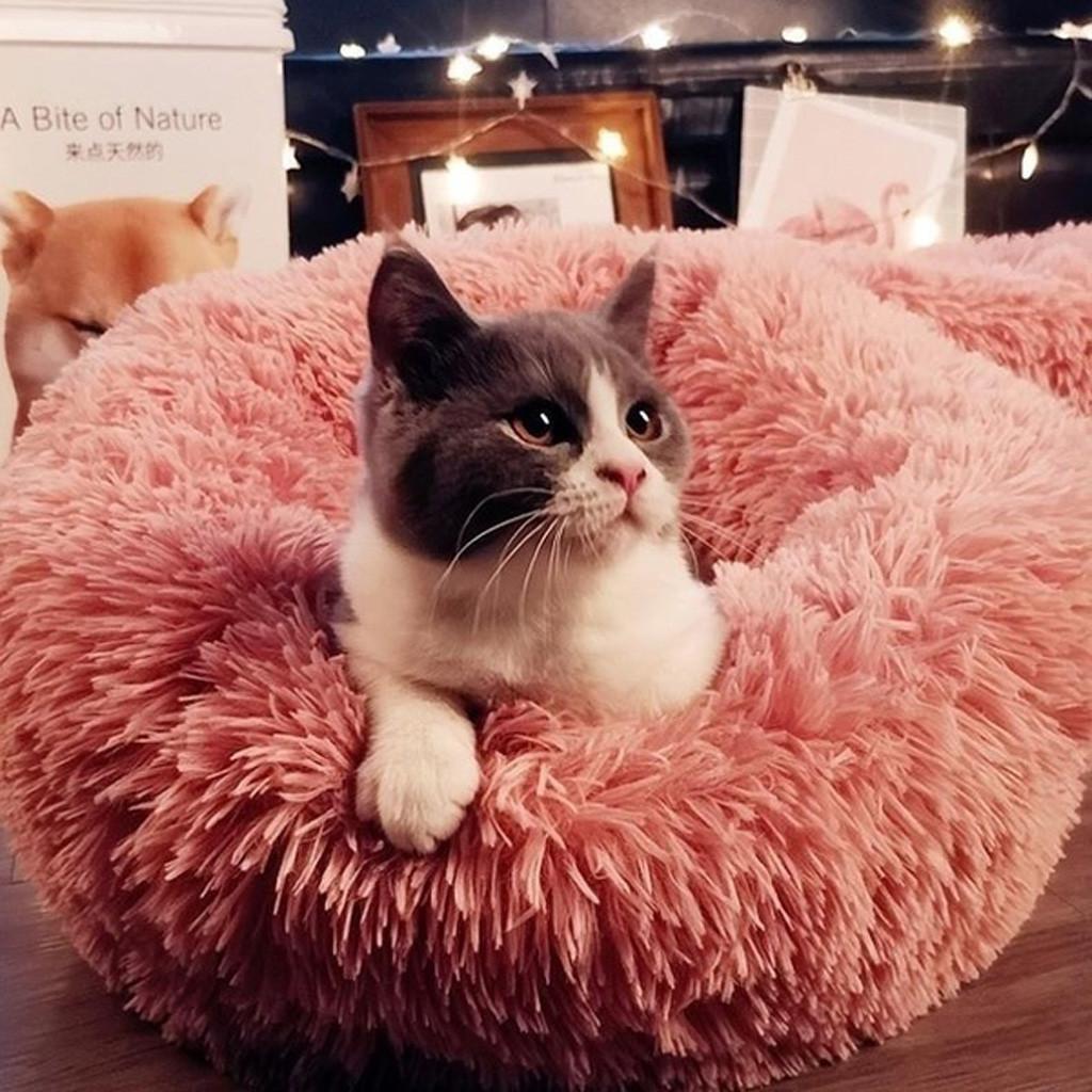 Comfy успокаивающие собачьи кровати для больших средних маленьких собак глубокий сон PV кошка мусор спать кровать стиральный плюшевый домашнее животное # F5 201124