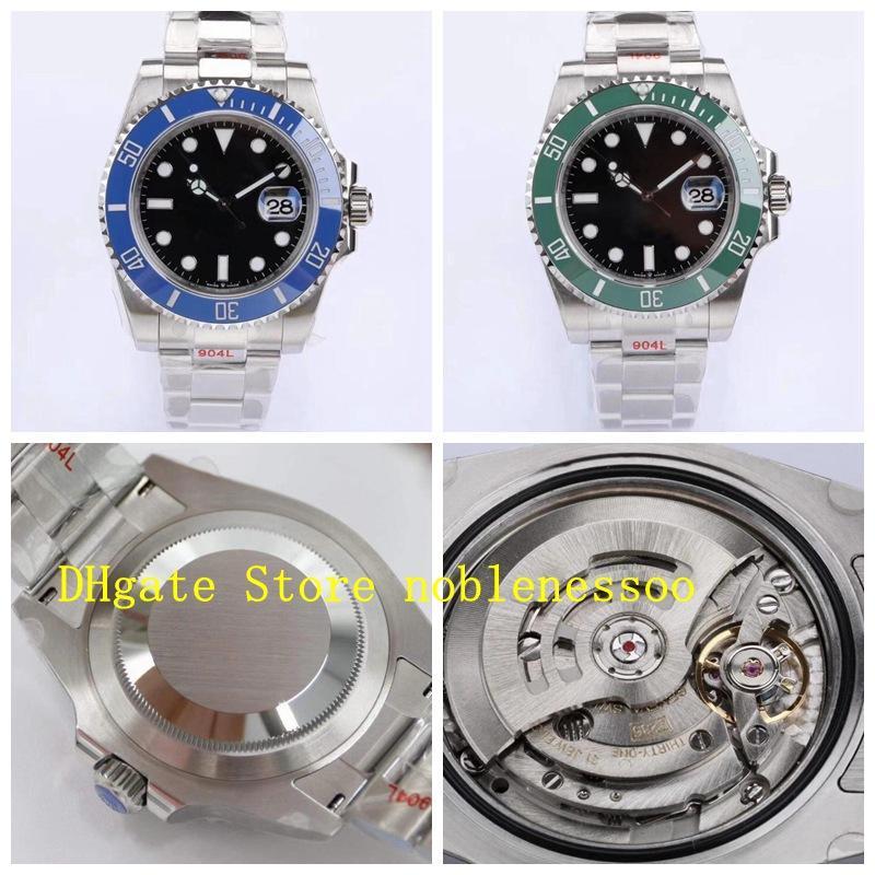 Nueva versión 904L Steel 41mm Watch Men's 126610 126619 124060 azul verde ceracrom Ceramic Dive Cal.3235 Men automáticos ETA Hombres EW Relojes