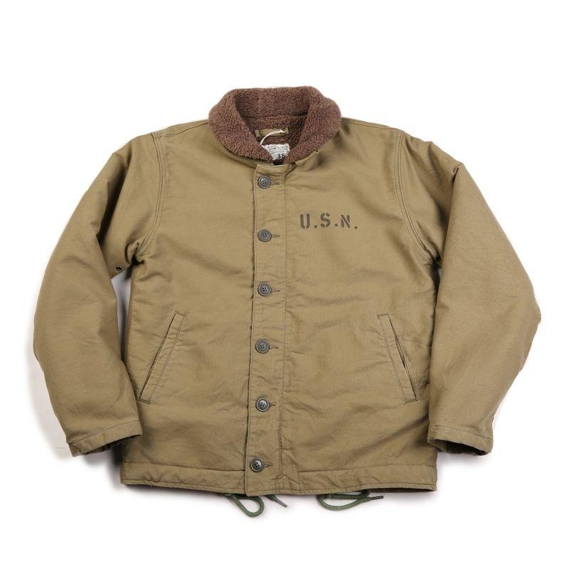Stok olmayan Haki N-1 Güverte Ceket Vintage USN Askeri Üniforma Erkekler Için N1 201116