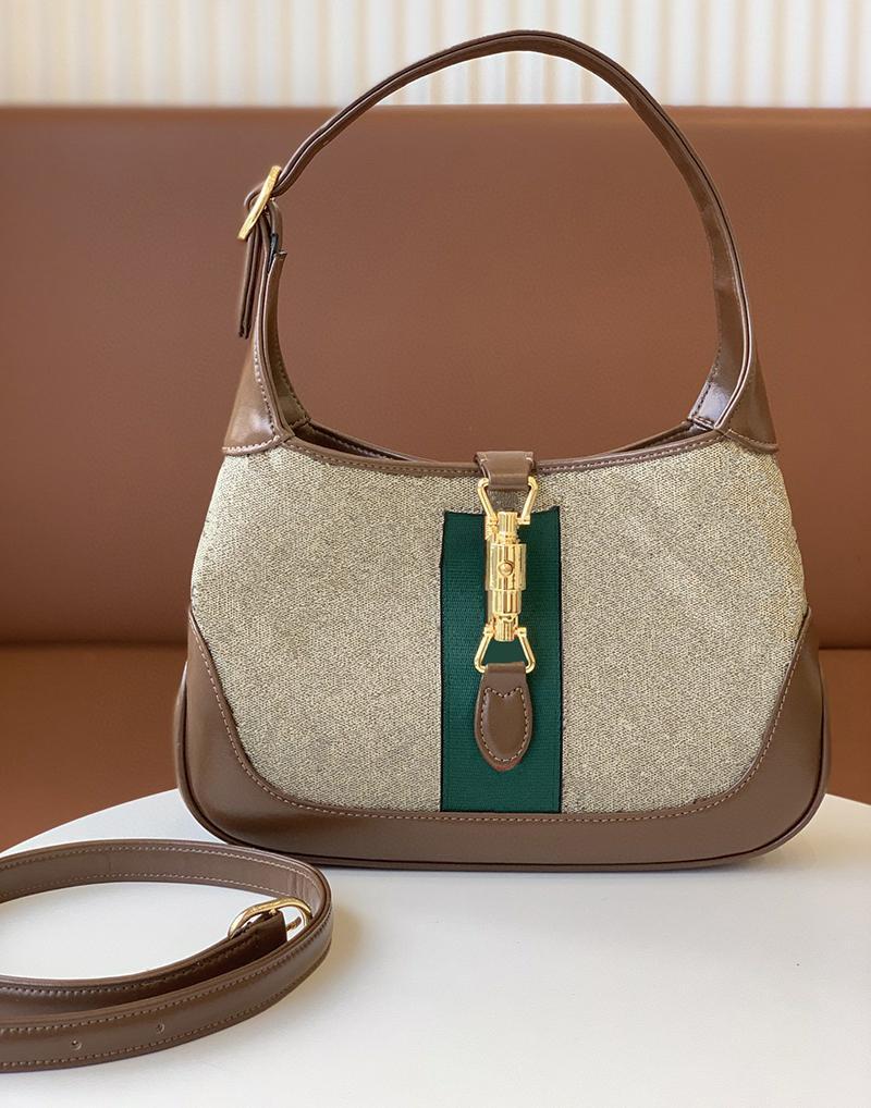خمر 1961 المرأة حقيبة يد جودة عالية جلد طبيعي سيدة حقيبة الكتف الكلاسيكية محفظة حقائب اليد بلون