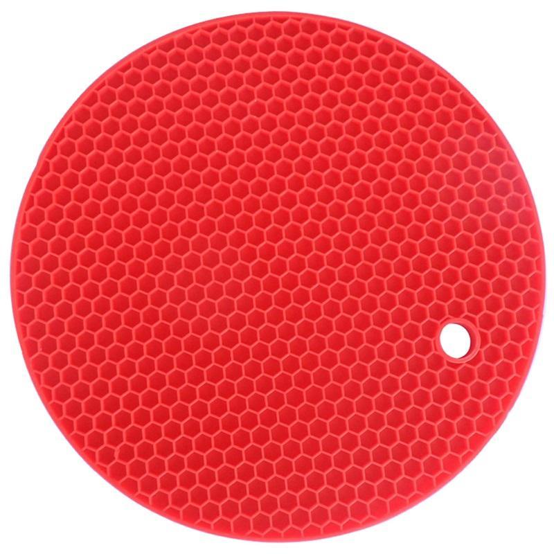 Multifunktionale Runde Silikon Nonlip Hitzebeständige Silikon Tisch Matten Untersetzer Kissen Ort Matte Topf Halter Küchenzubehör 188 k2