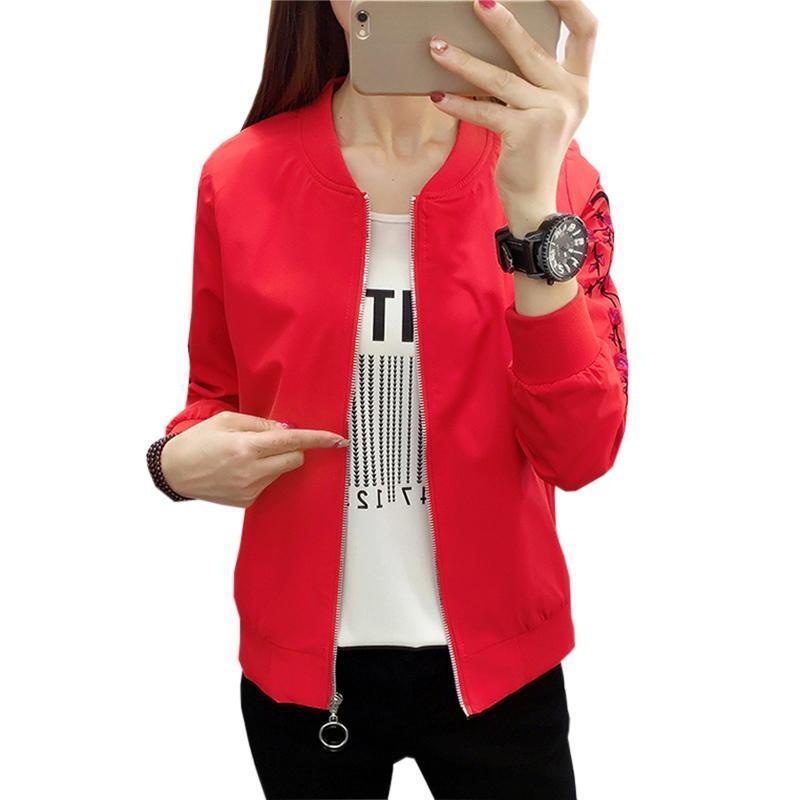 Плюс размер повседневные женские бейсбольные пальто 2020 осенние женщины куртка цветок печатает девушка с длинными рукавами свободно пальто куртки FP1312