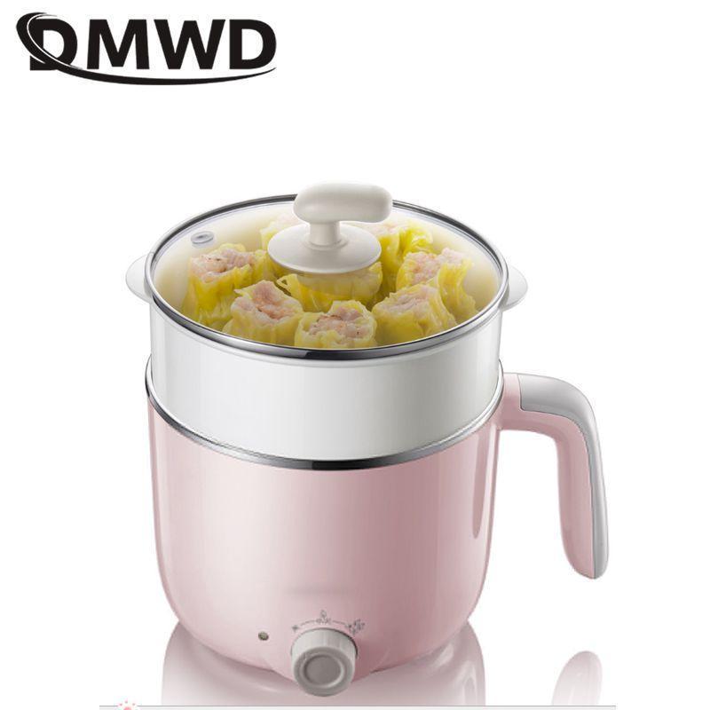 Dmwd mini multicooker multicooker café da manhã fabricante macarrão macarrão panela diy hot pote mingau sopa panela para 1-2 pessoas 220V
