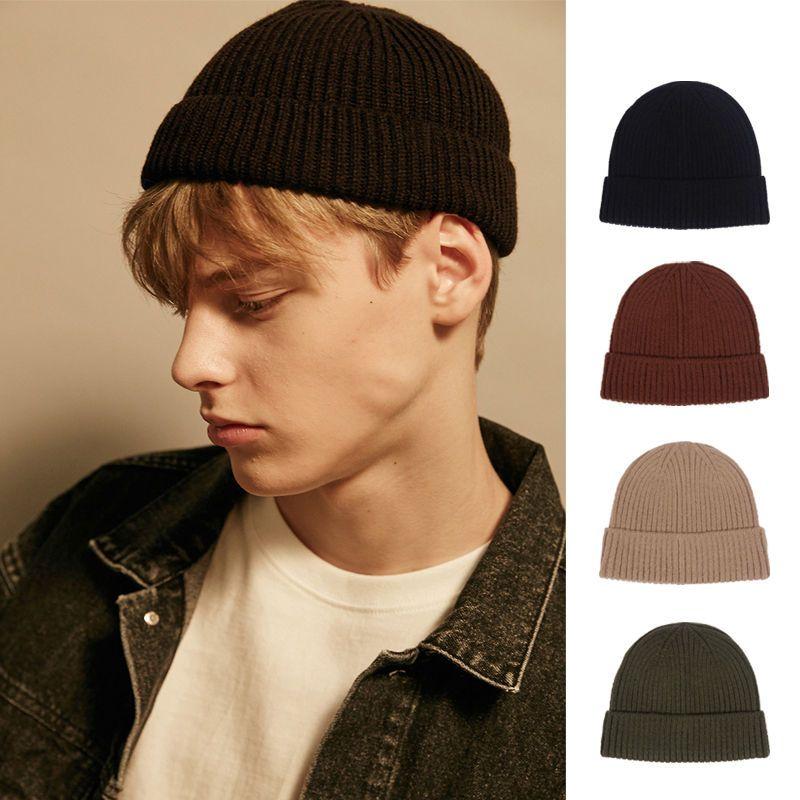 Mode Winter Männer Frauen Motorhaube Strickhut Hip Hop Abzeichen Stickerei Beanie Caps Casual Outdoor Hüte 4 Farben