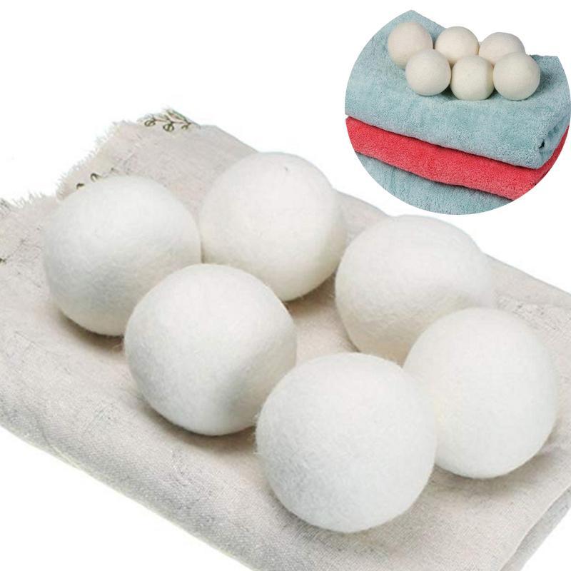كرات مجفف الصوف بريميوم قابلة لإعادة الاستخدام النسيج الطبيعي المنقي 2.76 بوصة ثابت يساعد على الجفاف الملابس في غسيل أسرع dhl