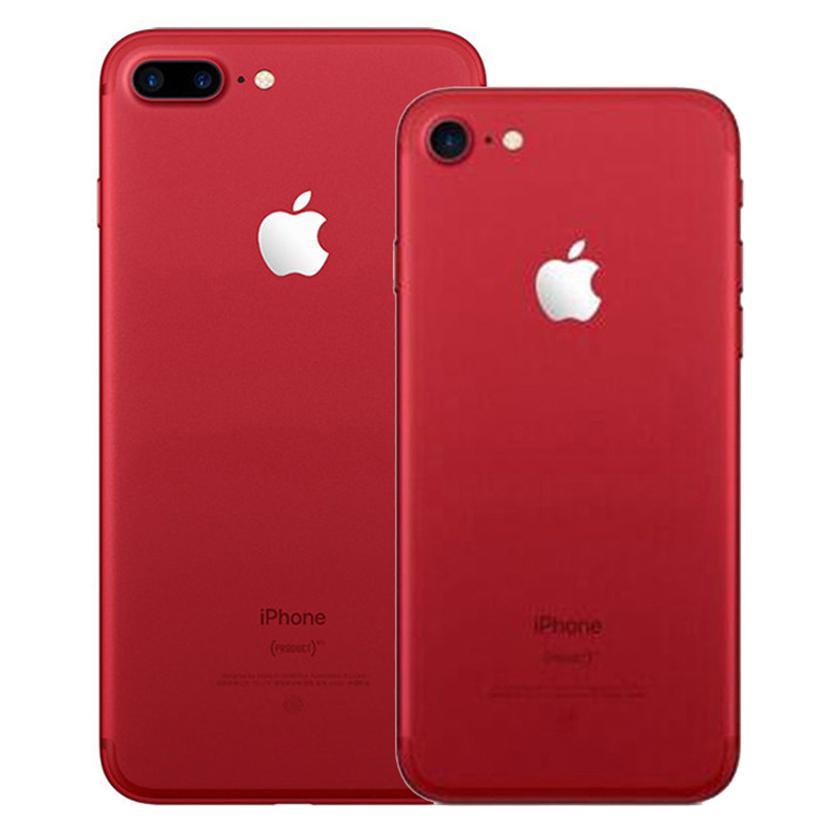 Red Color Refurbished Original Apple iPhone 7 / 7 Plus With Fingerprint 32/128/256GB ROM Quad Core 12MP 4G LTE Smart Phone Free DHL 1pcs