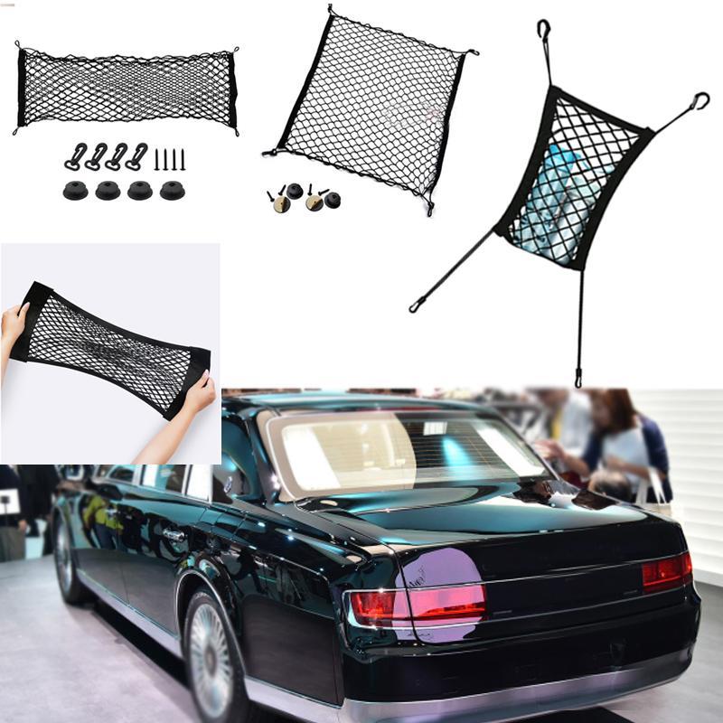 لتويوتا القرن سيارة سيارة سوداء الخلفية جذع البضائع الأمتعة المنظم التخزين نايلون عادي مقعد صافي