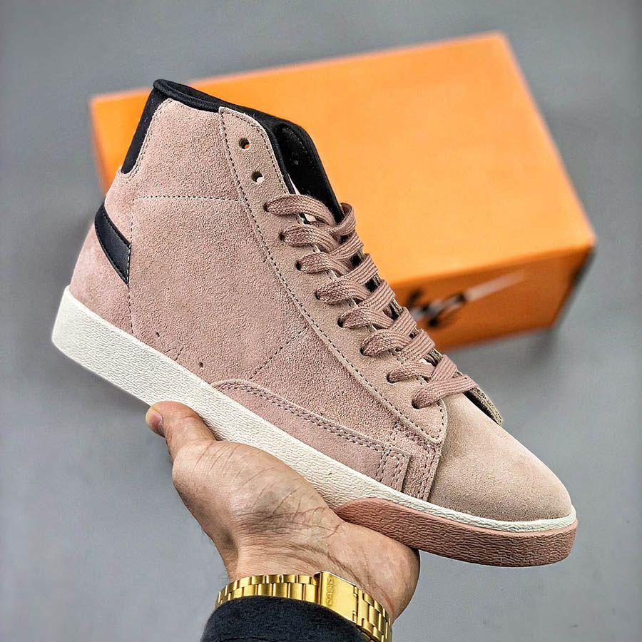 Мужская платформа Обувь Blazer Mid Vintage Замшевые Незнакомец Черные Синие Вещи Дизайнер Кроссовки Кожаные Моды Женщины Модная Повседневная Обувь