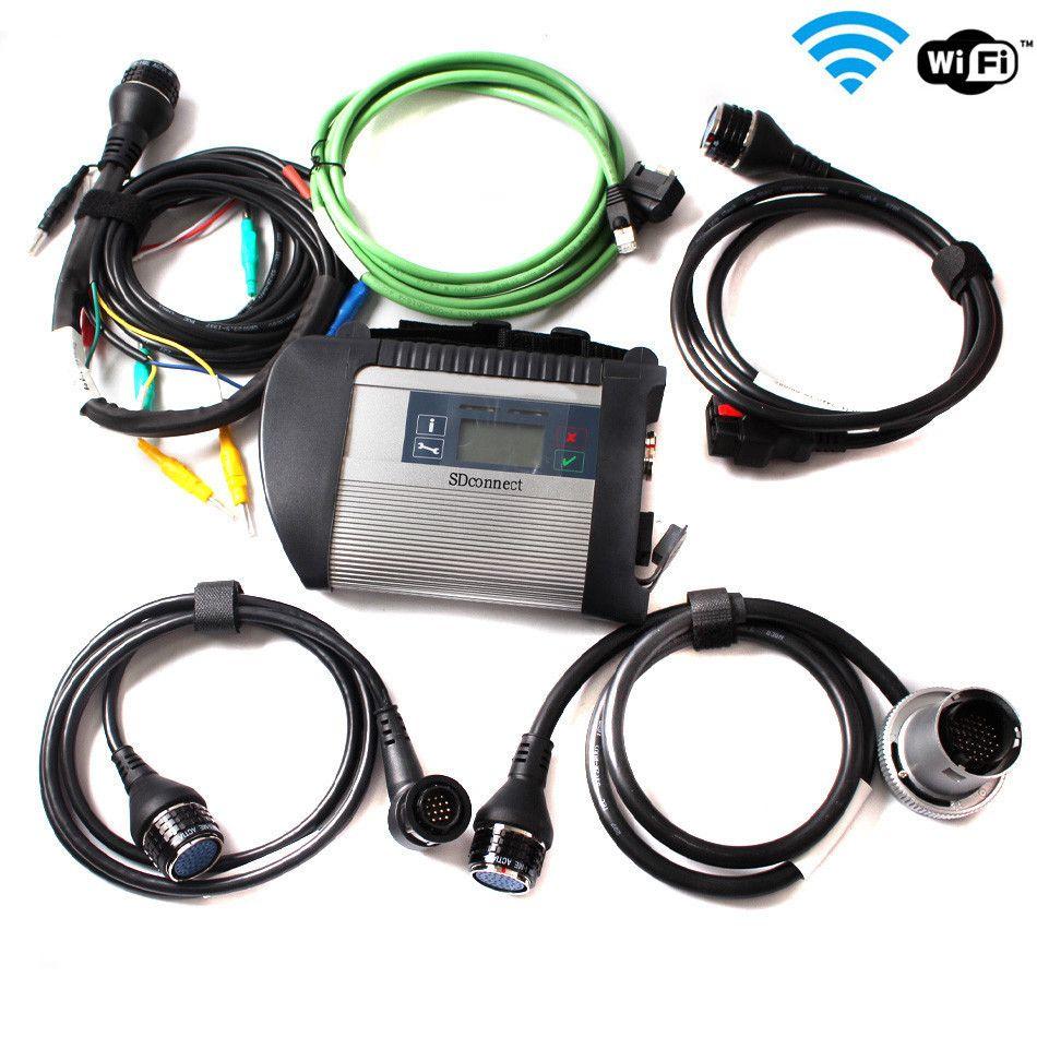 2020 Высокое Качество МБ Звезда C4 Интерфейс SD Connect Звезда Диагностика DAS Compact 4 Мультиплексор для BENS Diag Инструмент Бесплатная Доставка