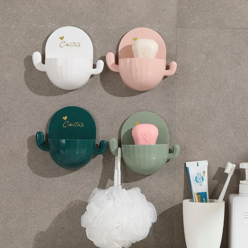 Platos de jabón Plato para el hogar Plato de pared Baño de punzón libre Copa de succión Tapa de dibujos animados de inodoro