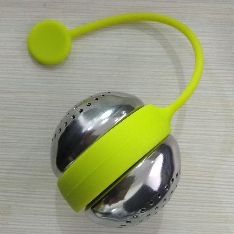 Intesto in silicone in acciaio inossidabile Infusore sfera sfera Sfera a maglia Tè Filtro Filtro Filtro Allentato Foglia di Tè Spice Ball TEas Diffusore Strumento da cucina DBC VT1GH