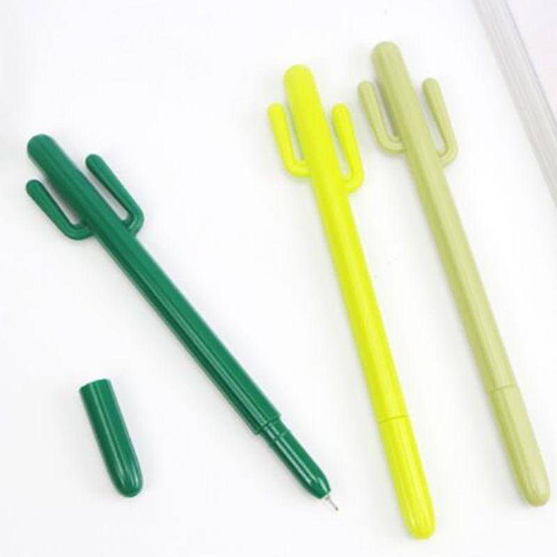Gel Stifte Cartoon Stift Schreibwerkzeuge Kaktus Form Gel Stiftprüfung Spezielles Büro Student Zeichen Schwarz Tintenstift Student Carbon Stifte