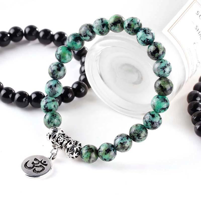 Заживление браслеты натуральный сплетенный браслет каменные бусы балансовые молитвенные подарок настроить мужчины женщин мода ювелирные изделия