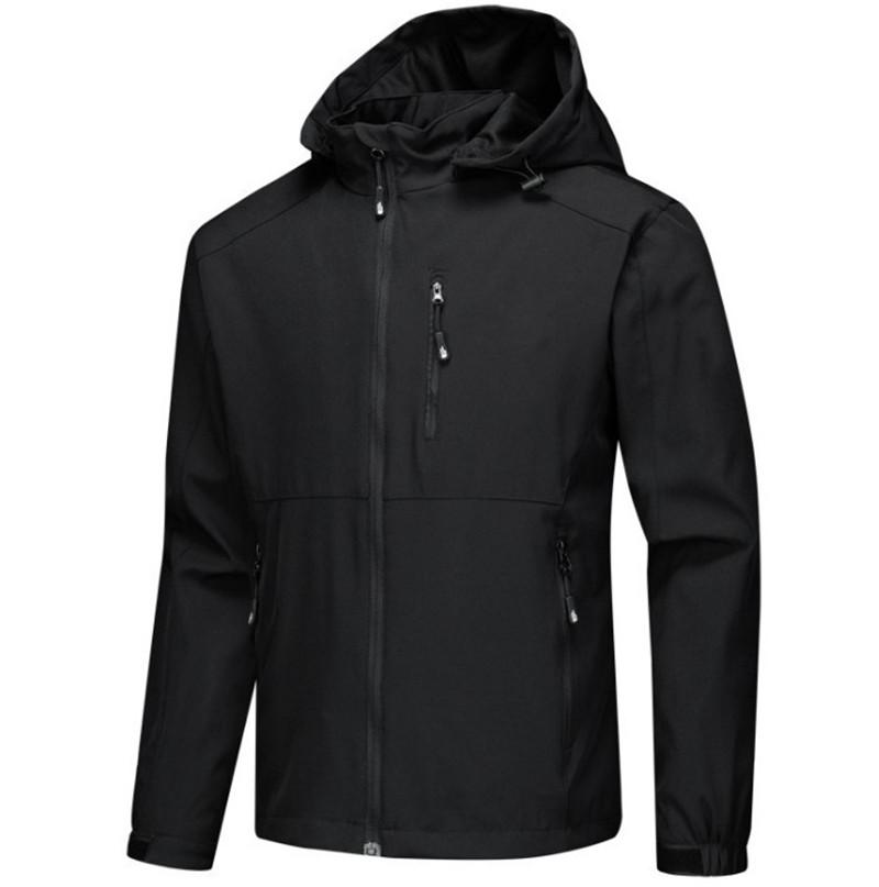 Hoodie kat baskılı Erkekler Fermuar Su geçirmez Ceket harfi c 2021 Yeni mens ceketler Uzun Kollu rüzgarlık JK090 giysi