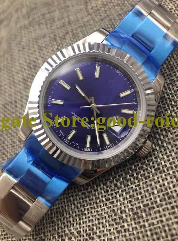 5 estilo 41mm mens automático 2813 movimento asia relógios de aço homens 126334 relógio safira cristal 116334 data azul cinza preto apenas relógios de pulso