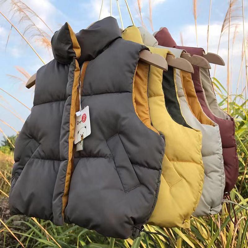 OLEKID 2020 Outono Inverno Crianças Vest Meninos Cotton Crianças mangas jaqueta 1-6 Anos Vest para bebé da criança Colete C1118
