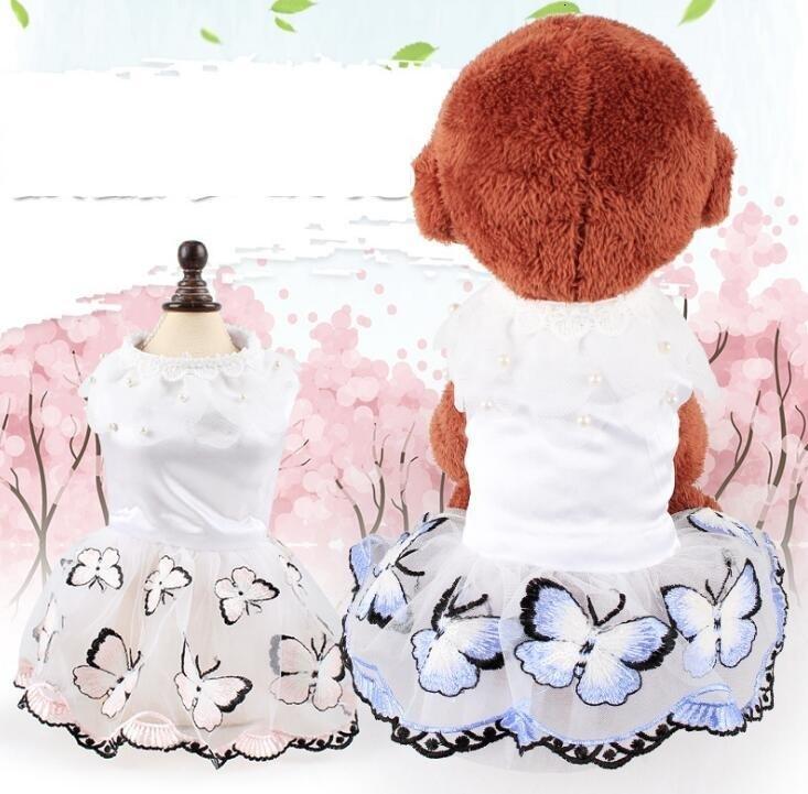 Abbigliamento moda cani festival decorazione di nozze da sposa costumi cani carino farfalla sogno sogno per teddy barboncino nuovo stile principessa abito