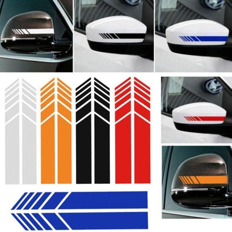 2 قطع الجانب سيارة الرؤية الخلفية مرآة المشارب ملصقات للسيارة ديكور مرآة الرؤية الخلفية الفينيل سيارة السيارات الخارجية ملصقات التصميم اكسسوارات
