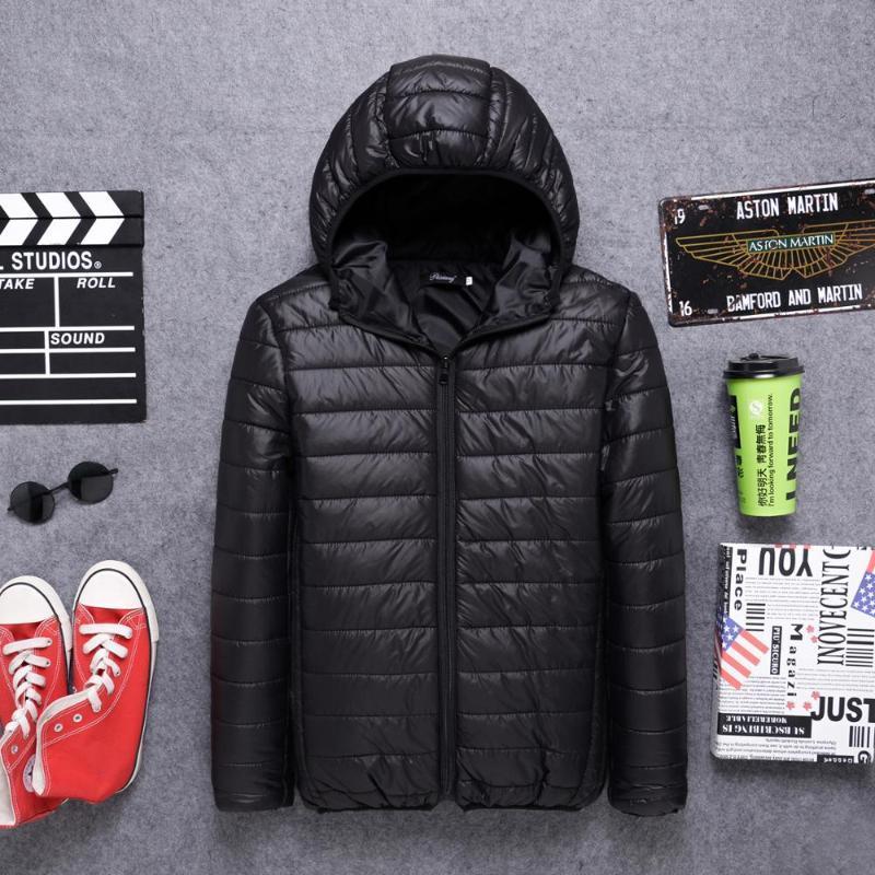 2021 새로운 남성용 후드 코튼 짧은 청소년 큰 캐주얼 겨울 코트 뚜껑 빛 아래로 자켓