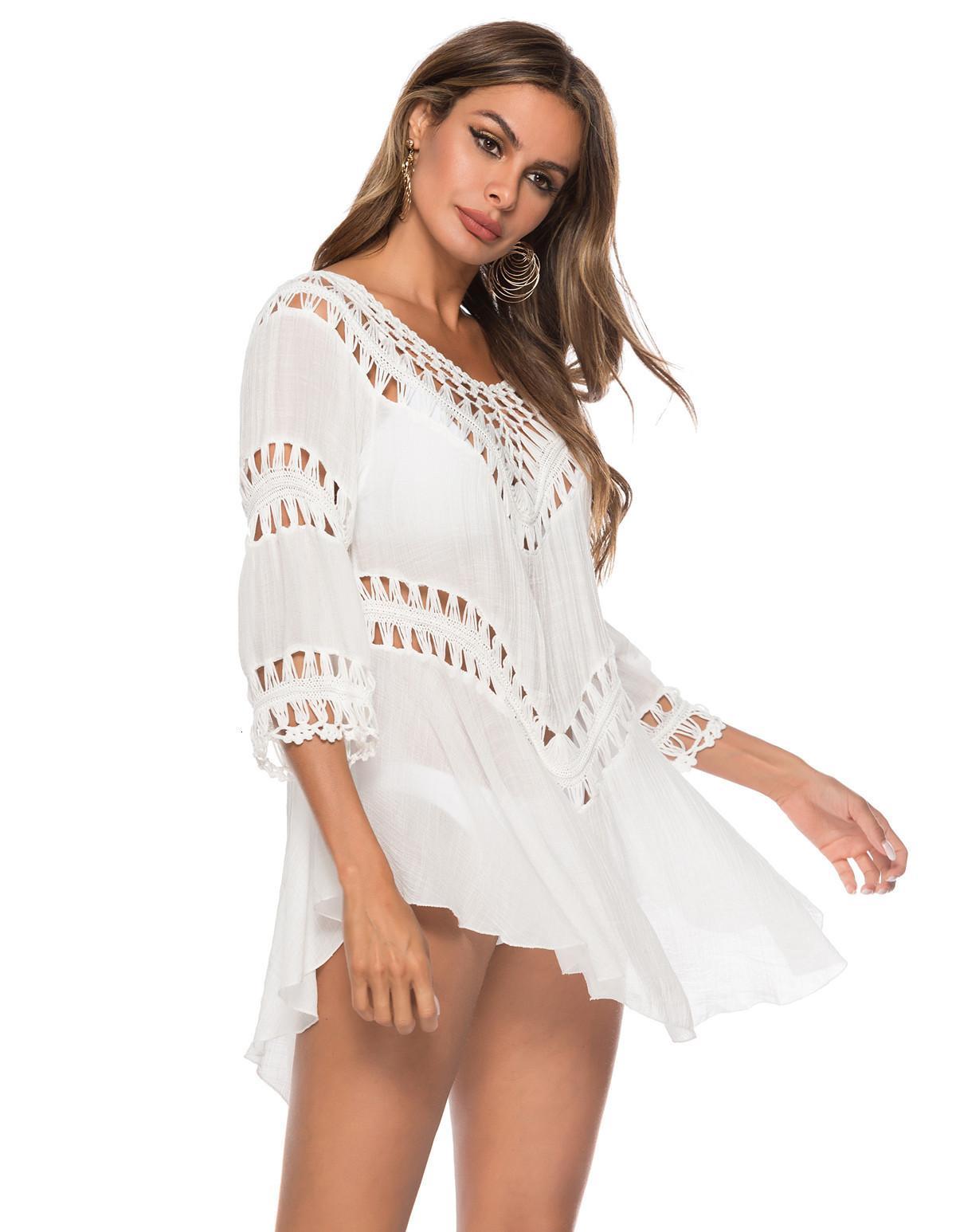 Продажа свободной среды Горячая длина Большие качели полый пляж Beach Bikini Купальник Beach Cover Up для женщин