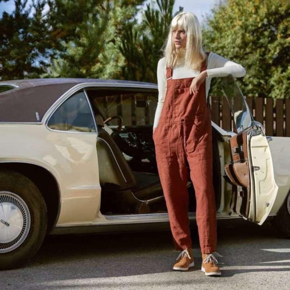 2019 nuovi bretelle di canapa di cotone allentate e comodi pantaloni casual