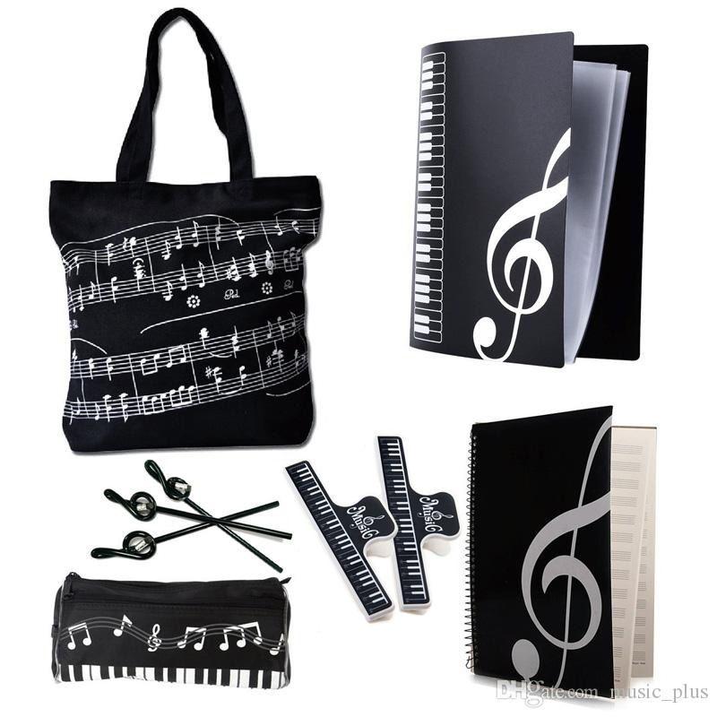 Students Music Art Students Study Set Music Stationery Set School Study Set Black 6 Kinds