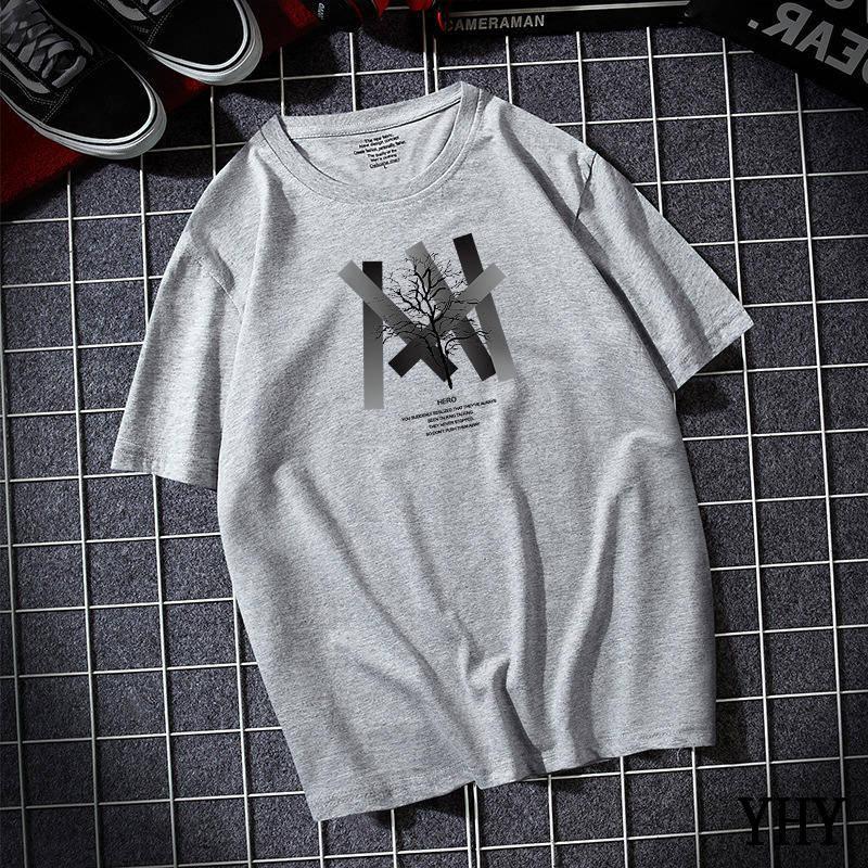 Envío gratis camiseta verano nuevo de alta calidad hombres casual manga corta o-cuello 100% algodón camiseta hombres blanco negro camiseta A-28