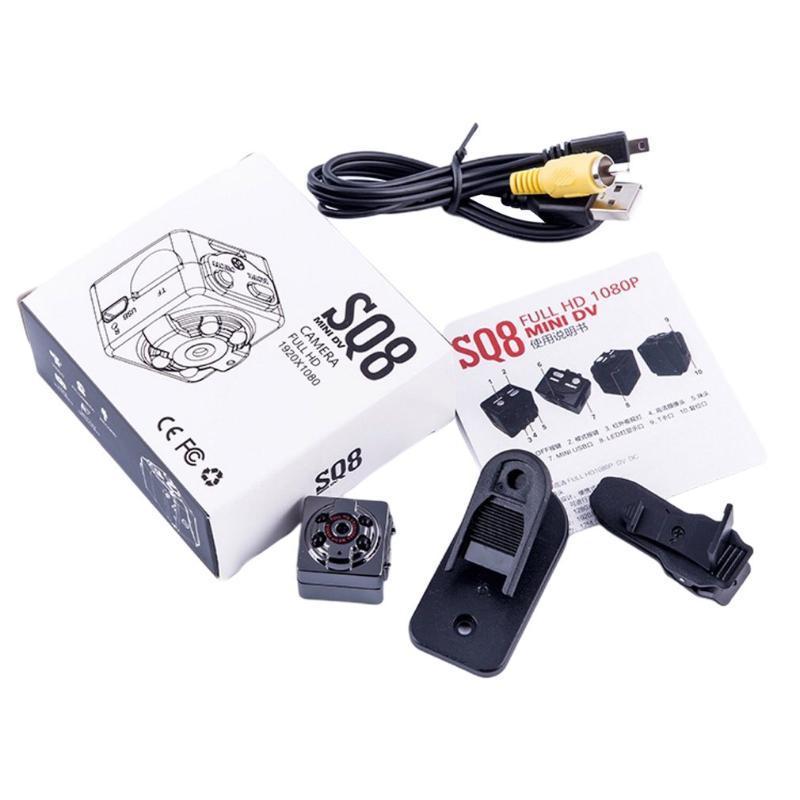 SQ8 маленький 1080P 960pcamera камера спортивный открытый инфракрасный ночной виде зрение HD маленькая камера воздушный рекордер