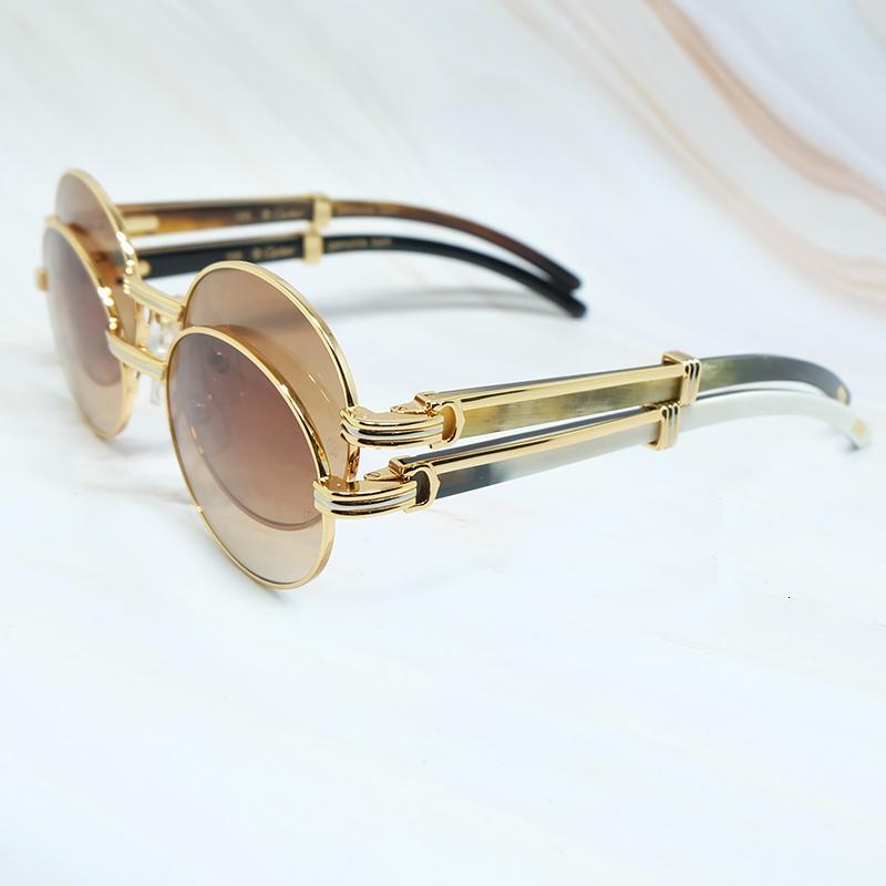 Новые 2021 Овальные Солнцезащитные очки Мужчины Женщины Дизайнер Картер Солнцезащитные Очки Древесины Баффы Солнцезащитные Очки Buckalo Horn Shades Eyewear Gafas De Sol 56ro