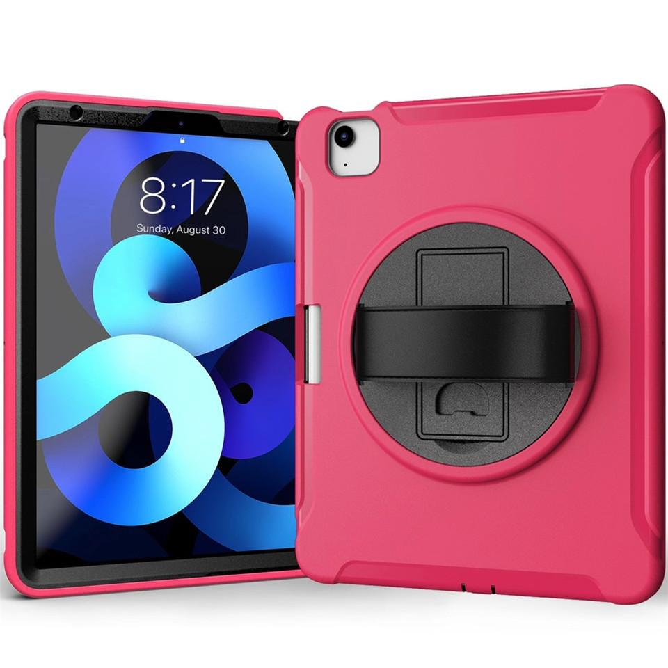 For iPad air 4 10.9 10.2 9.7 air2 mini45 T500 T970 T870 T290 T510 Tablet Case Kickstand Cover 360 Degree Rotating Flip PC Stand Hand Straps