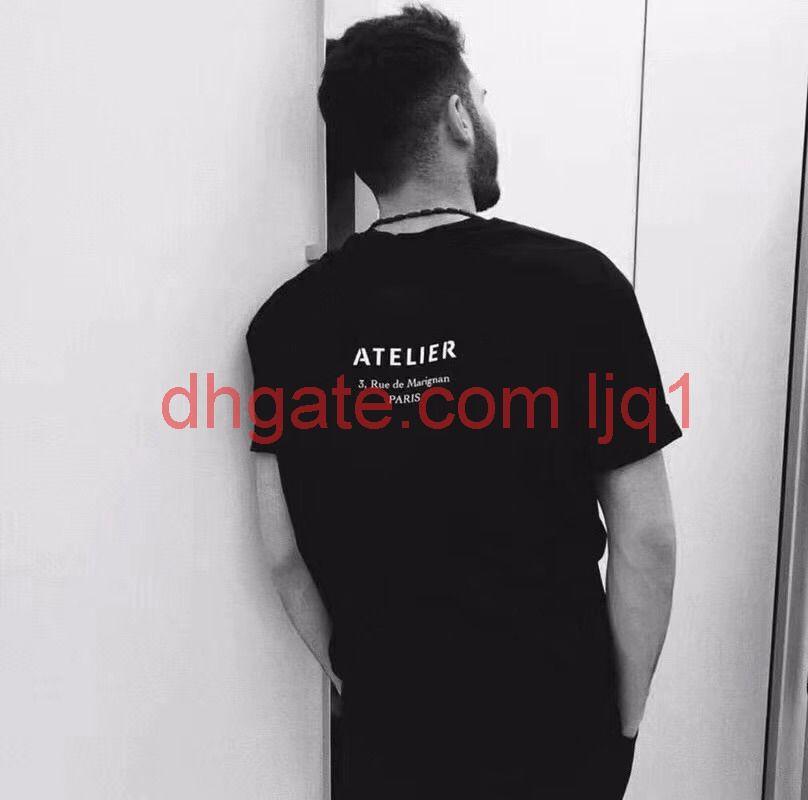 Lüks Paris T Shirt Erkek Tasarımcı T Shirt Marka Giysileri Atelier Yaz Kadın Baskılı T-Shirt Erkek En Kaliteli 100% Pamuk Tees