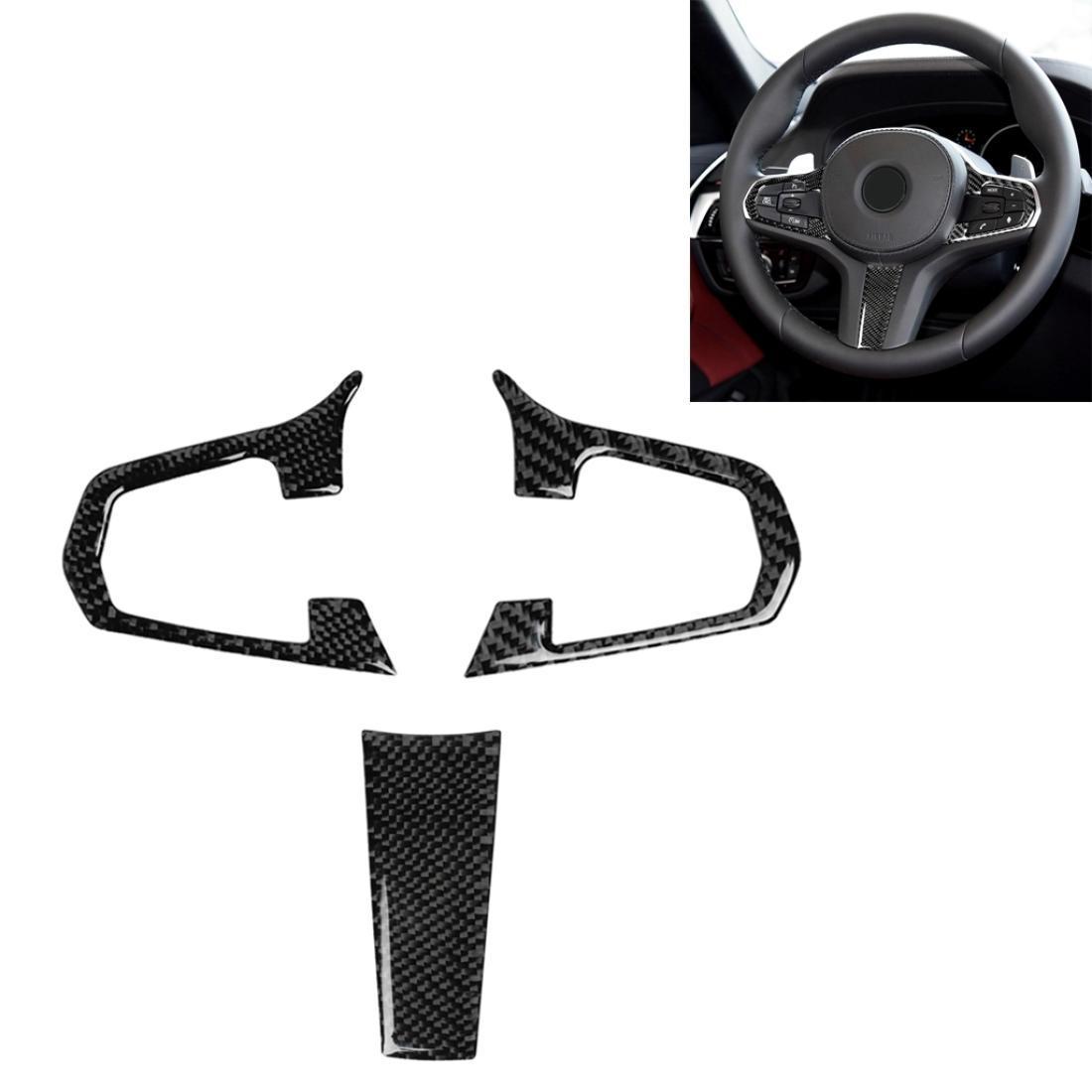 3 в 1 автомобиля углеродное волокно сплошное цветное рулевое колесо кнопка декоративная наклейка для BMW 5 серии G30 x3 G01 левый и правый драйв универсальный